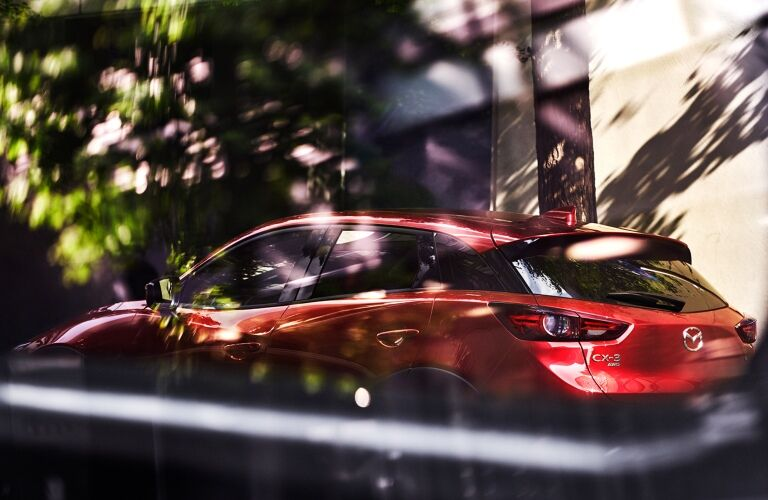 2021 CX-3 seen from inside another vehicle