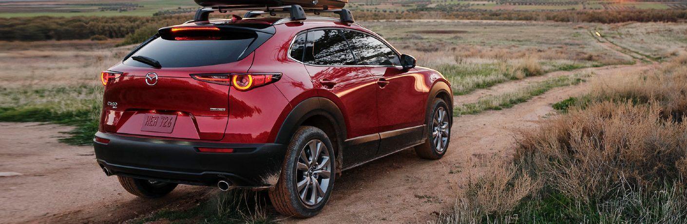2021 CX-30 driving on desert trail