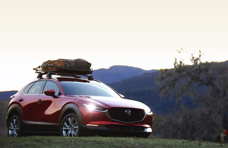 2021 CX-30 parked on grassy hill