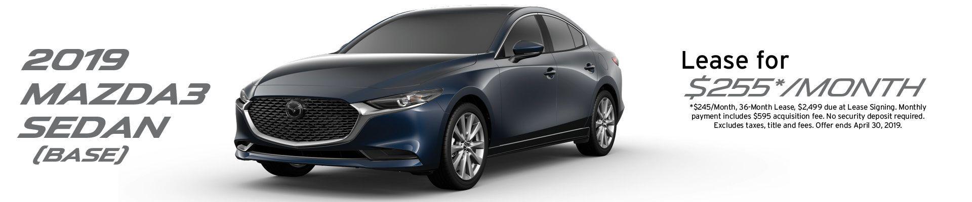 2019 Mazda3 lease banner