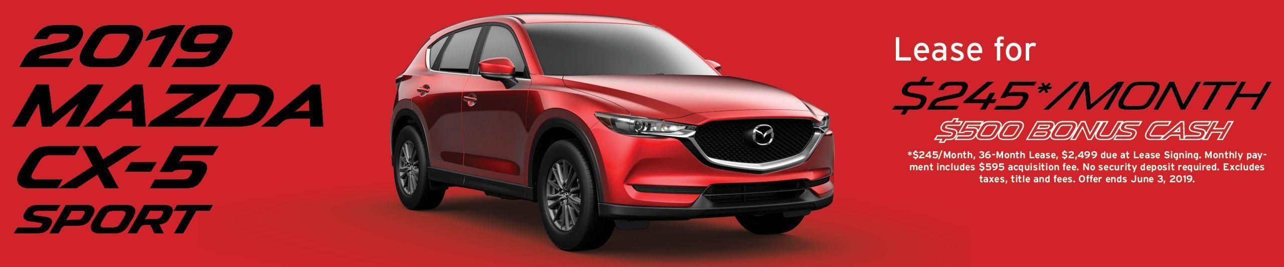 2019 Mazda CX-5 lease banner