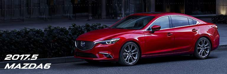 red 2017.5 Mazda6 parked on a street