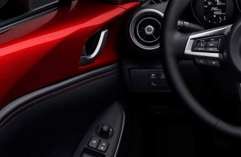 mazda mx-5 miata interior, door controls