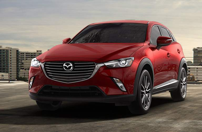 red mazda cx-3 front