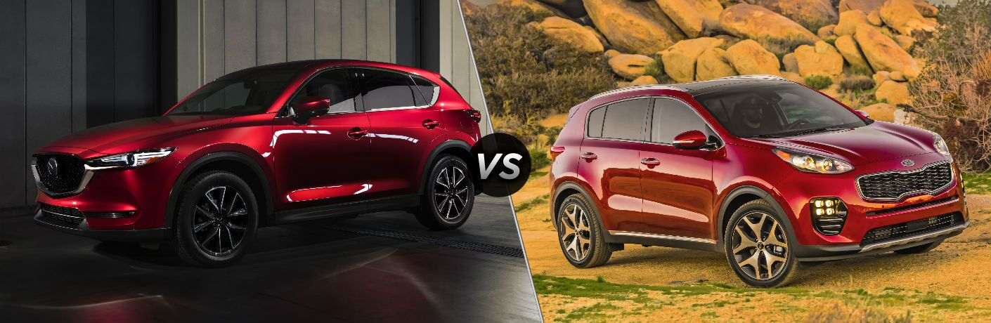 red mazda cx 5 compared to red kia sportage