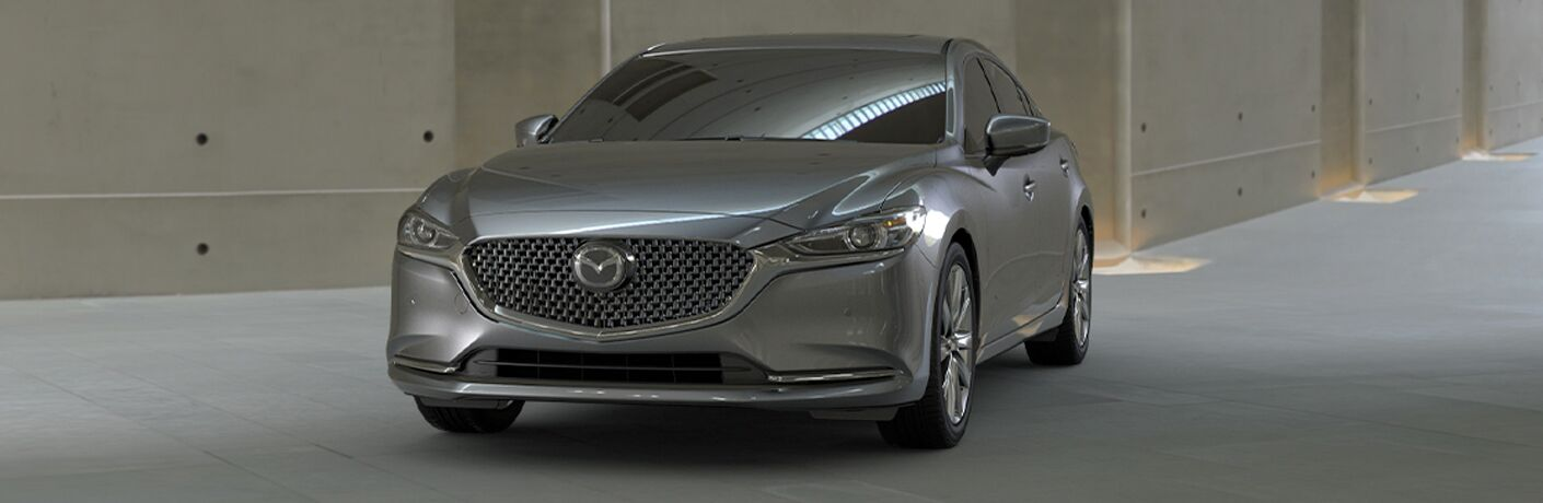 front view of silver mazda6