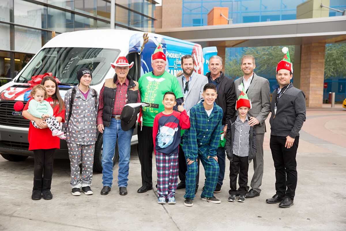 The Earnhardt Family Donates a Van to Phoenix Children's Hospital