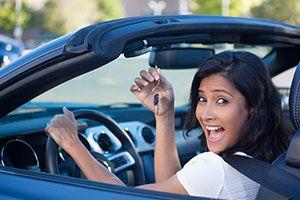 women car salesperson