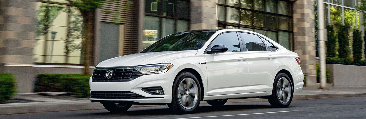 2020 Volkswagen Jetta moving in the city