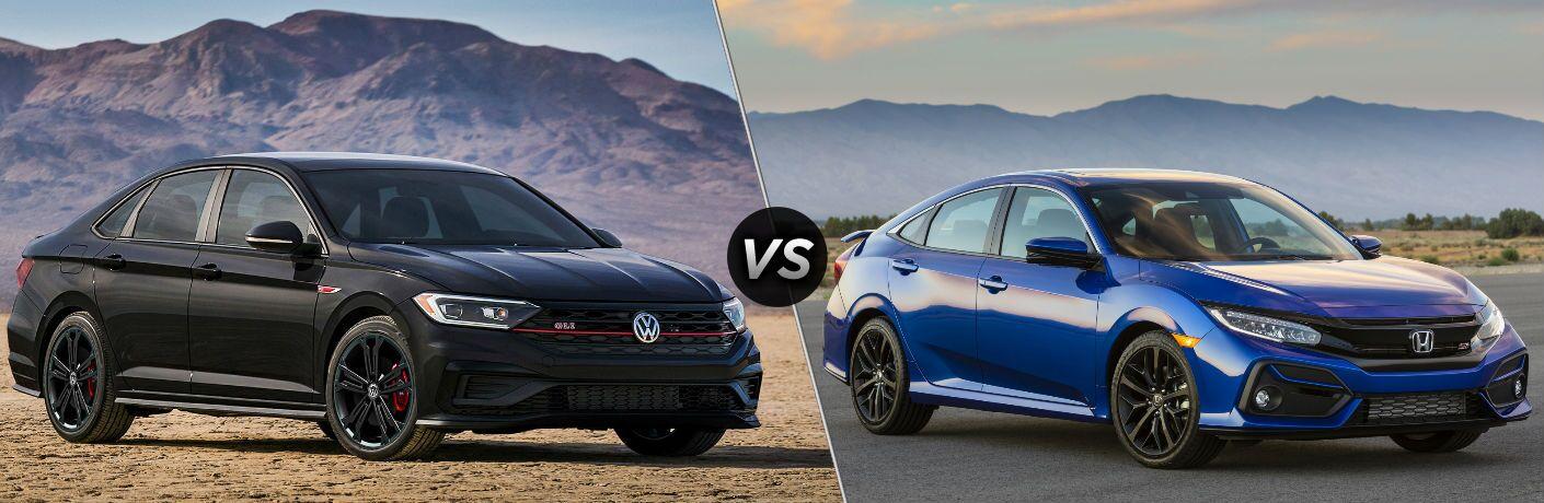 2020 Volkswagen Jetta GLI vs 2020 Honda Civic Si Sedan