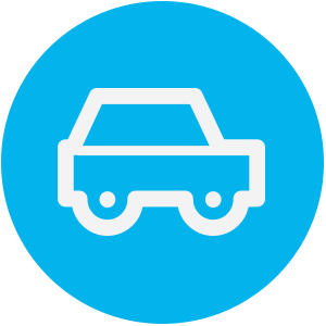 light blue car icon