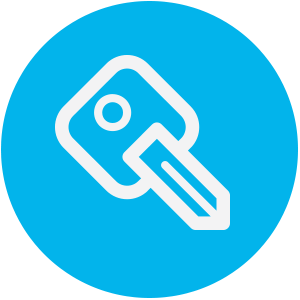 light blue key icon