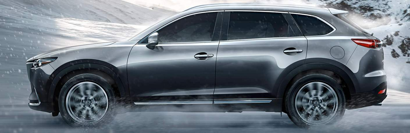 2017 Mazda CX-9 Side View of the Exterior in Gray