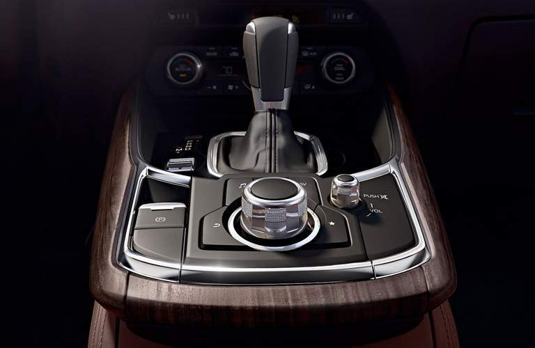 Center Console in the Signature Trim Level of the 2017 Mazda CX-9