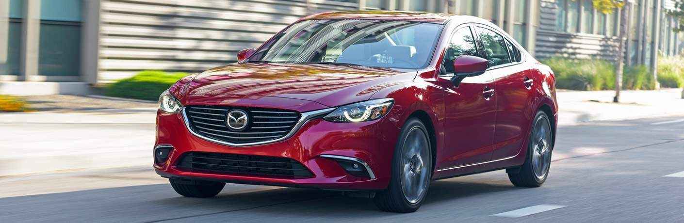 2017 Mazda6 Exterior View in Red of Front End and Side