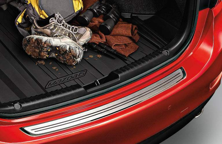 View of Trunk Capacity in 2017.5 Mazda6 with Gear in Trunk