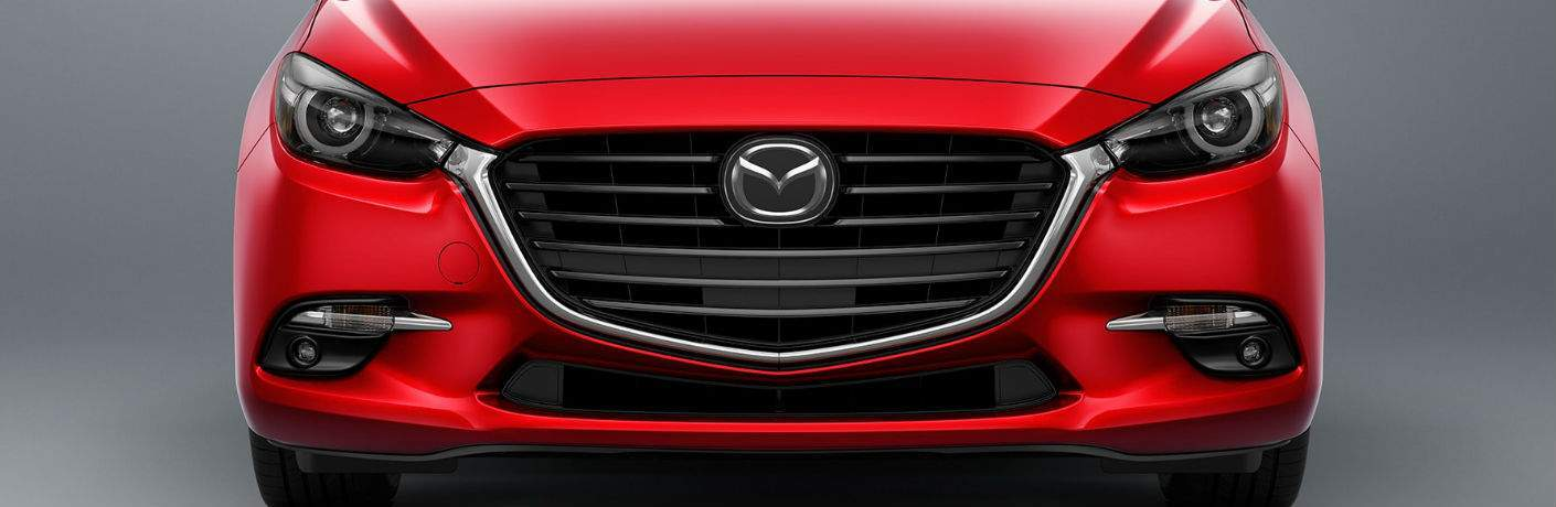 2017 Mazda3 Front End View in Red