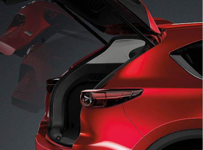 2017 Mazda CX-5 Rear Liftgate Open Exterior Coloring in Red