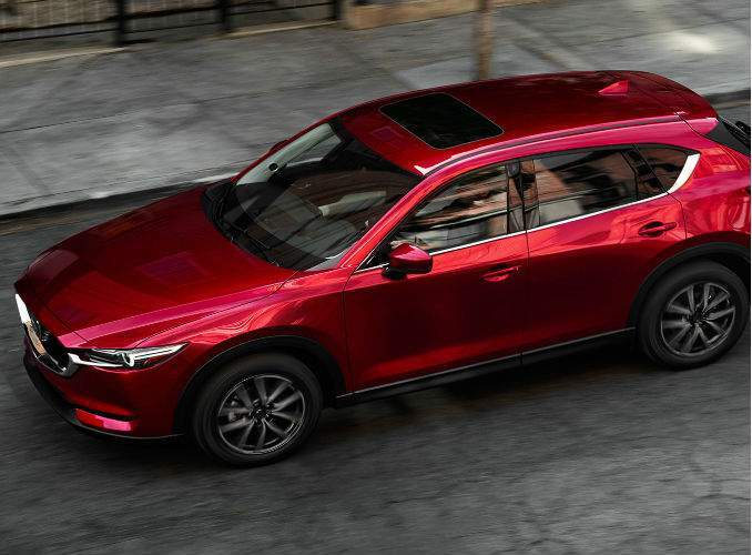 Bird's Eye View of the 2017 Mazda CX-5 in Red