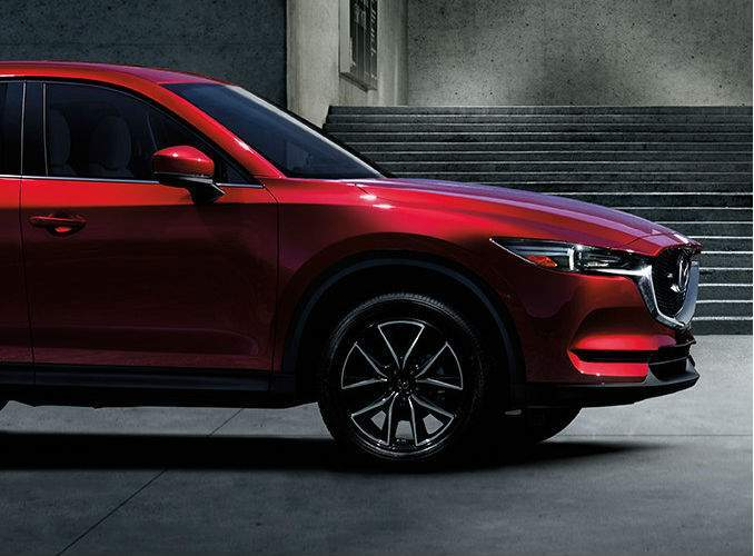 Front Nose View of 2017 Mazda CX-5 in Red