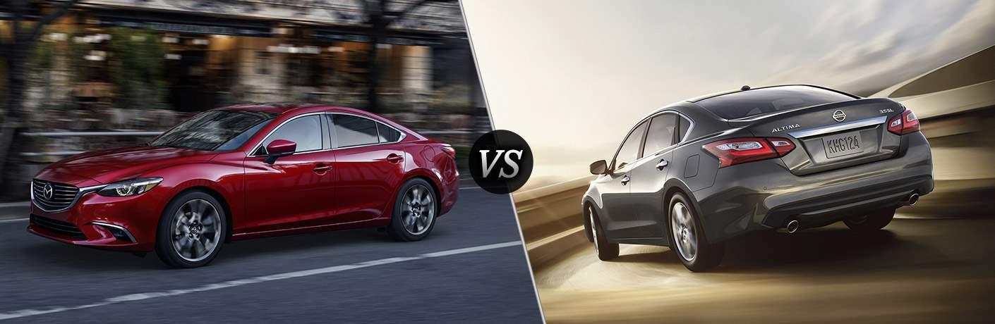 2017.5 Mazda6 in Red vs 2018 Nissan Altima