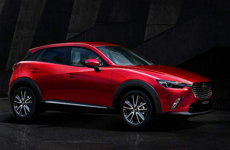 Side View of the 2018 Mazda CX-3 in Red