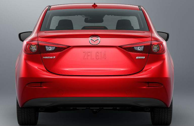 2018 Mazda3 Exterior View of the Rear End in Red