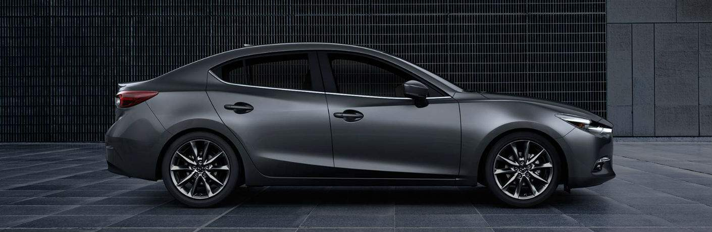 Exterior View of the 2018 Mazda3 in Grey