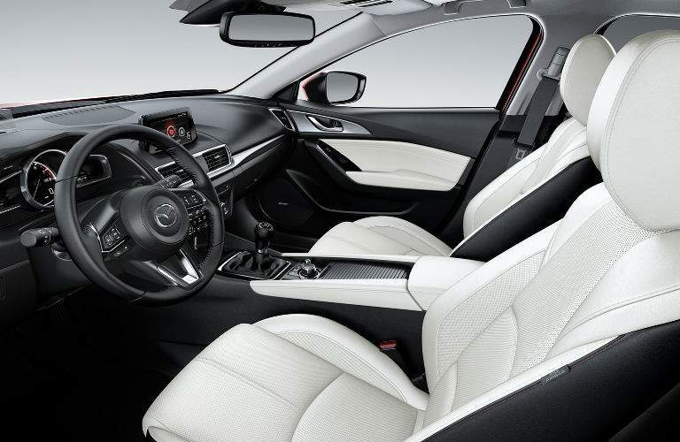 2017 Mazda3 Interior View of Seating in Black and White