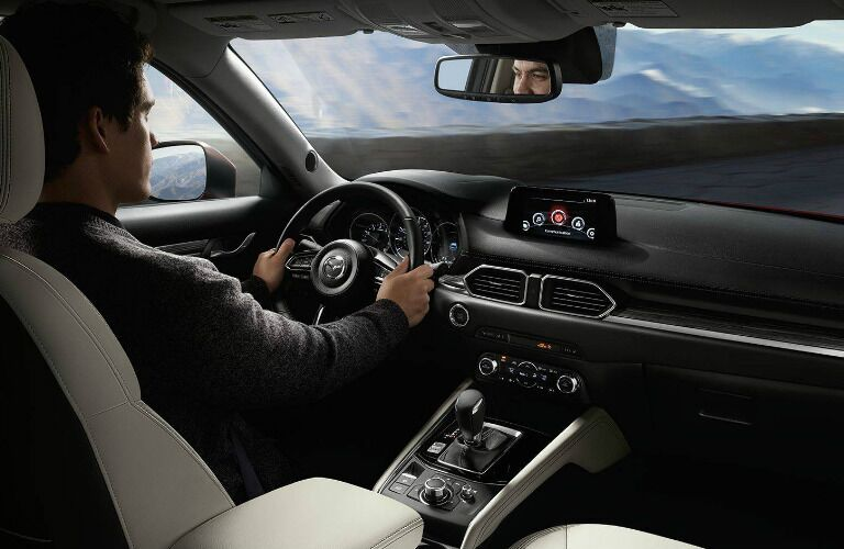 2018 Mazda CX-5 interior with man driving