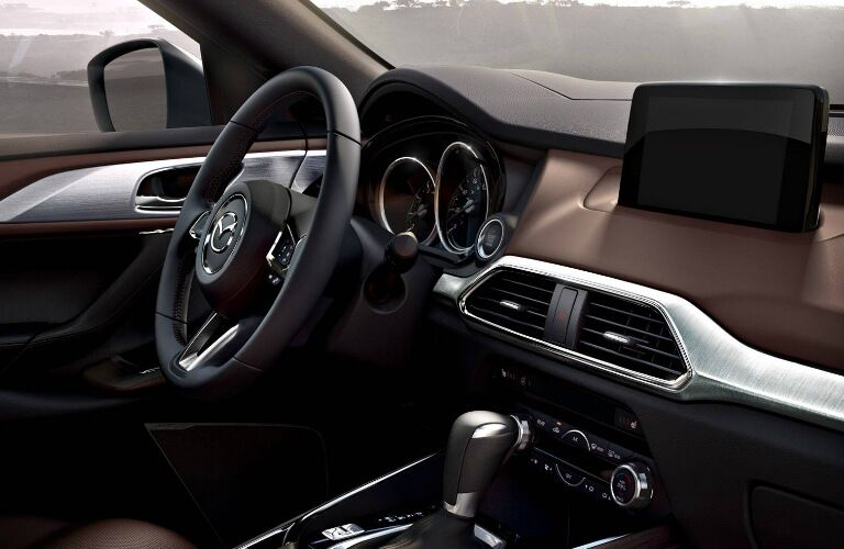 2018 Mazda CX-9 interior steering wheel and dash
