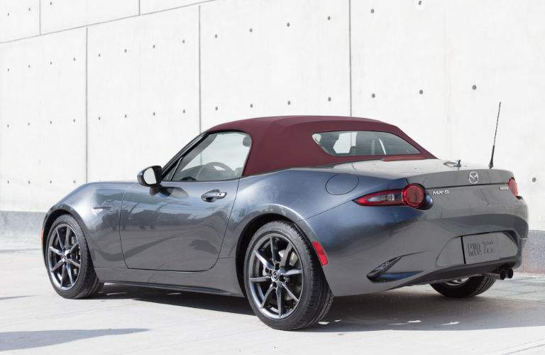 2018 Mazda MX-5 Miata in Gray with Cherry Top