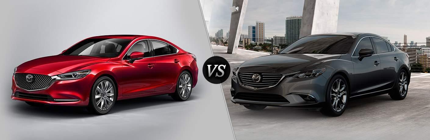 2018 Mazda6 in Red vs 2017 Mazda6 in Gray