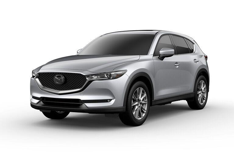 Silver 2019 Mazda CX-5 Grand Touring Reserve on White Background