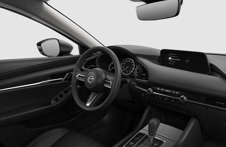 2019 Mazda3 dashboard and steering wheel