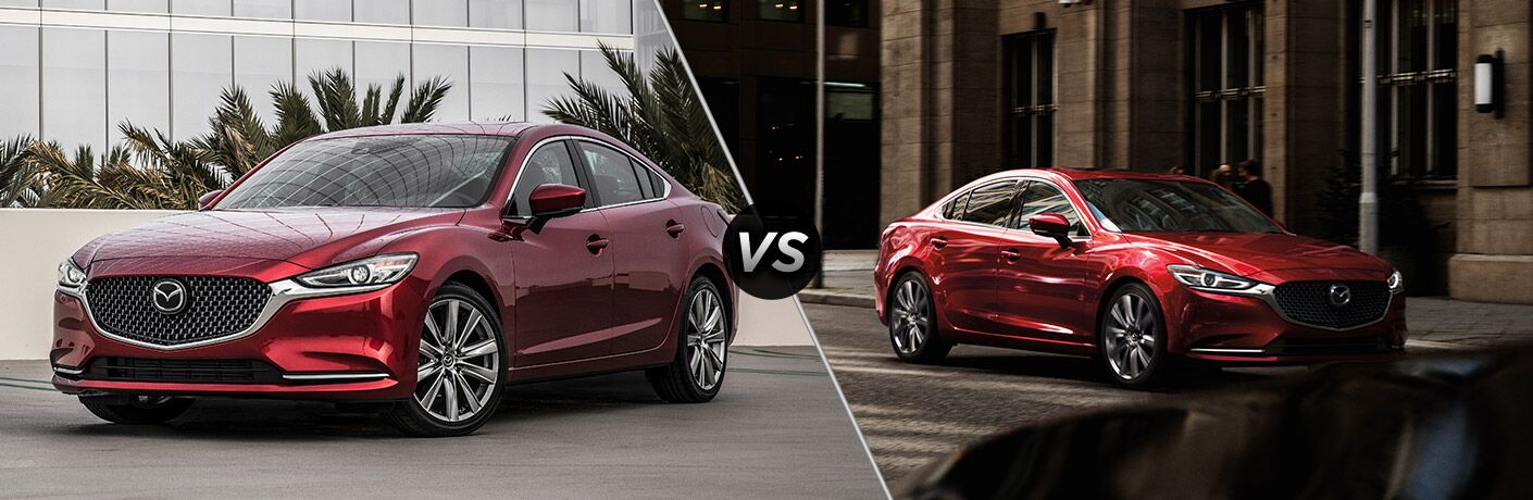 Red 2019 Mazda6 in a Driveway vs Red 2019 Mazda6 on a City Street