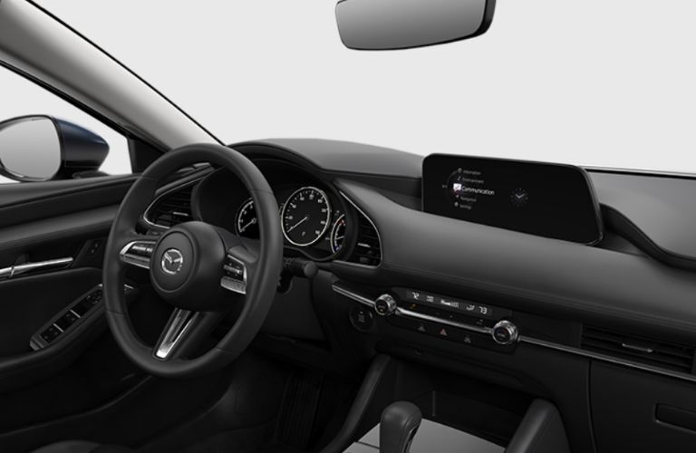 2019 Mazda3 Sedan with Select Package dashboard setup