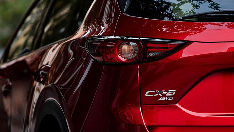 Close Up of 2019 Mazda CX-5 Taillight and CX-5 Badge