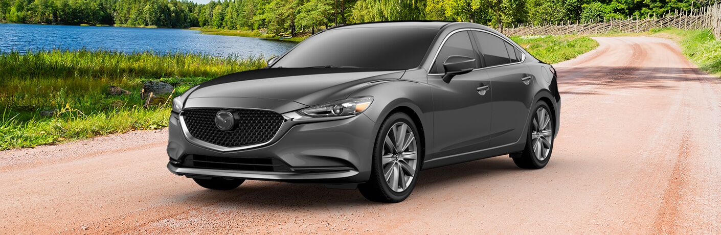 Gray 2019 Mazda6 Grand Touring on Country Road