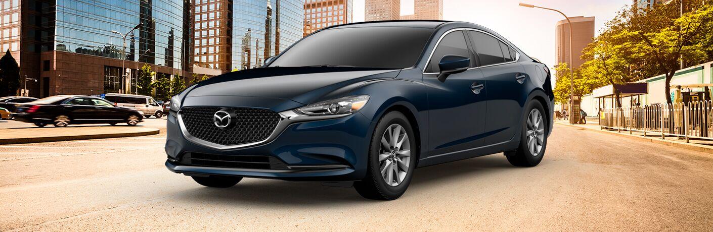 Blue 2019 Mazda6 Sport Trim Level on a City Street