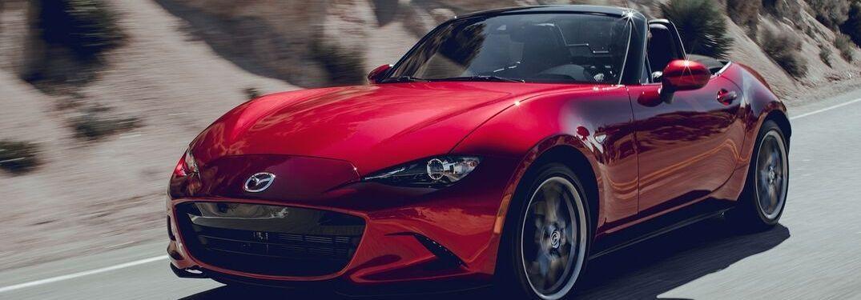 2019 Mazda MX-5 Miata driving down road