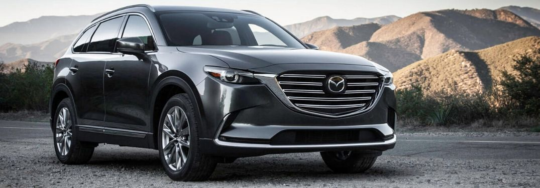 2020 Mazda CX-9 by scenic mountain landscape