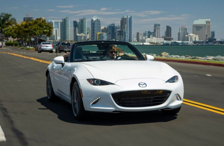 2020 Mazda MX-5 Miata on coastal road