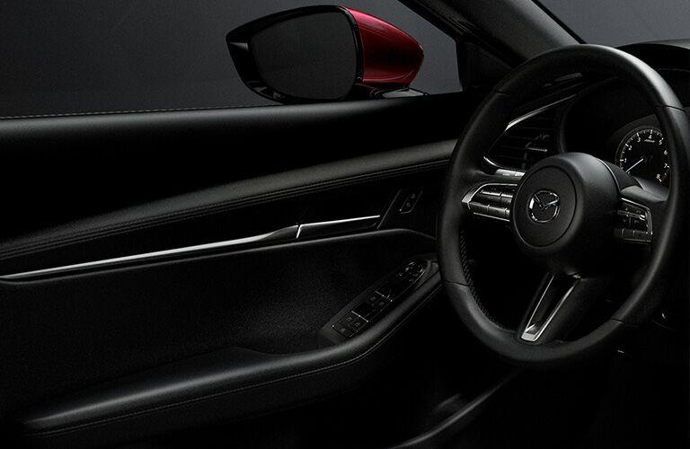 2020 Mazda3 Hatchback dashboard and steering wheel
