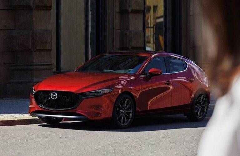 2020 Mazda3 Hatchback parked along roadside