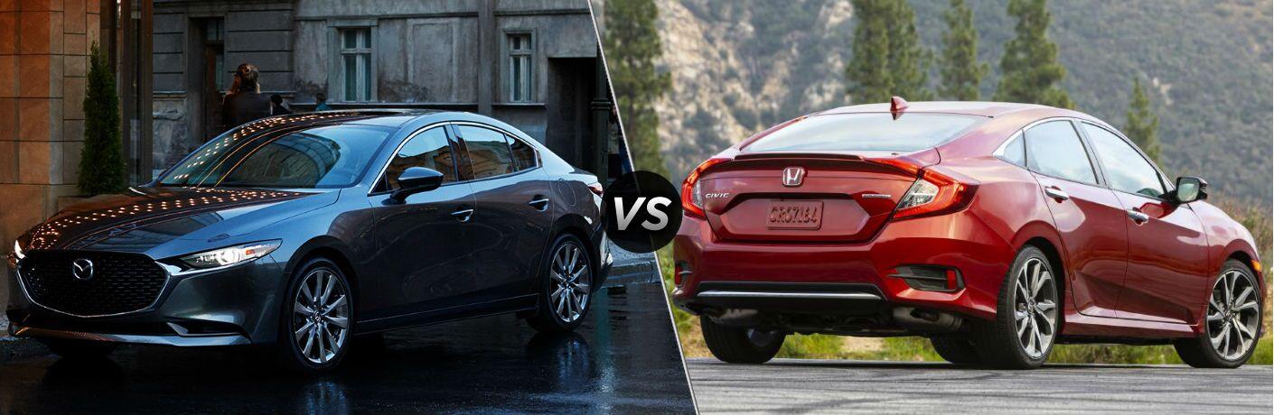 2020 Mazda3 vs 2020 Honda Civic