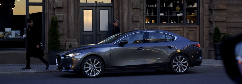 2020 Mazda3 parked along street