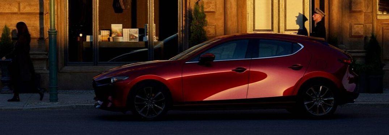 2020 Mazda3 Hatchback parked along street
