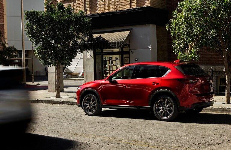 2021 Mazda CX-5 parked along roadside