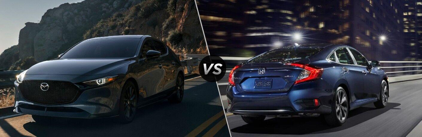 2021 Mazda3 vs 2021 Honda Civic